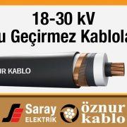 Öznur 18-30 kV Su Geçirmez Kablo OG XLPE N2XS(FL)2Y
