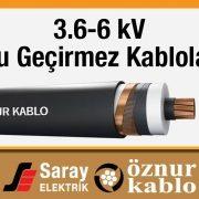 Öznur 3-6 kV Su Geçirmez Kablo XLPE İzoleli Tek Damarlı