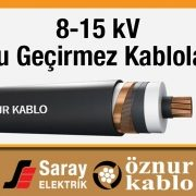Öznur 8-15 kV Su Geçirmez Kablo OG XLPE N2XS(FL)2Y (VDE)