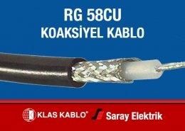 Klas Kablo RG 58CU Koaksiyel Kablo