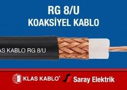 Klas Kablo RG 8U Koaksiyel